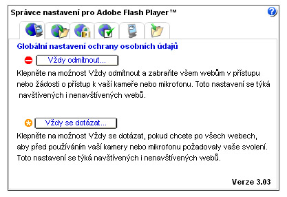 Flash Player Setting Manager
